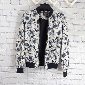 Forever 21 Los Angeles floral bomber jacket Size S